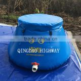 Movable PVC tarpaulin top open self- standing onion shape water tank                                                                         Quality Choice