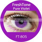 2016 Korean factory cheap price hot selling Natural Look soft 1 tone pure violet Fresh Tone color contact lenses