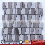 IMARK Ladder Shape China Athens Gray Mix Grey Wood Grain Marble Mosaic Backsplash Tile