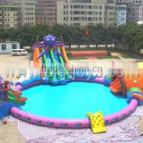Outdoor Best Quality resonable price summer inflatable water park with slide/inflatable Aqua Park for amusement