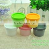 50g White Plastic PP Mask Scrub Mask beauty mask straight barrel cups frosted jar and lid cap