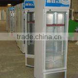 Cmmercial Vertical bottle refrigerated display freezer with one transparent glass door and lamp