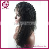 Unprocessed elastic band european hair glueless full lace wig great lengths hair wigs human jerry curl hair wigs