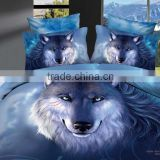 Ttmall Full Size 100% Cotton 3d Animals Blue Prints Bedding Sets Sheet Pillowcases Sets Bedding Duvets Covers Sets (Full, 4