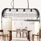 Modern Birds on Tree Trunk Iron Cage Pendant Lamp Ceiling Hanging Chandelier