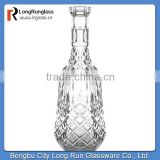 LongRun china supplier cover carved crystal decanter/glass wine bottle glassware wholesdale for home decor