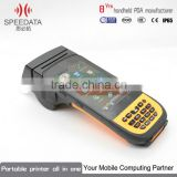 Android Mobile Phone Printer Terminal PDA Data Collector with Handheld Barcode Scanner Portable Printer and RFID Reader