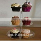 top level floor standing acrylic cake display rack for baking shop factory directly supply