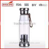 wholesale 500ml reusable detox water bottle,tea bottle with filter
