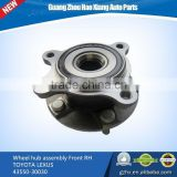 Wheel hub assembly Front axle RH AWD for TOYOTA LEXUS GS460/GS350/300/IS250/350/CROWN 43550-30030/4355030030