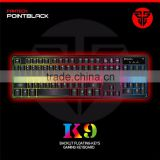 High quality Brand FANTECH K9 ABS Colorful LED Backlit Wired USB Gaming Keyboard for mechanical keyboard