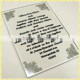 Customized Engraved Glass Muslim Wedding Invitation Card For Guest Souvenir Gifts