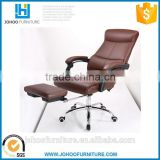 J86 Modern Height Adjustable Chair High Back Ergonomic PU Leather Office Chair Bed with Footrest
