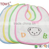 Infant Animal Waterproof Embroidered Cartoon Design Baby Bandana Bibs Plain Bellyband Bib
