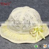 Baby Boy Girl's Sun Hat Cotton 100% Natural Cotton Lace Style Sun Protection Hat Bucket