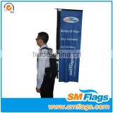 outdoor advertising backpack flag banner for road sign