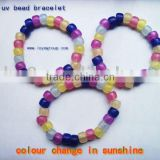seven colour change uv bead mixed bracelet uv checker