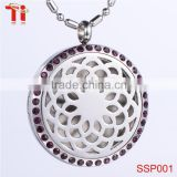 Aromatherapy Essential Oil Diffuser Necklace Locket Pendant Wholesale, 316L Stainless Steel Jewelry Diffuser Pendant Necklace