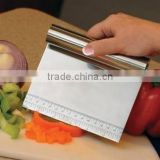 Full Stainless Steel with Measurer Ruler Bench Knife Bench Scraper Dough Scraper