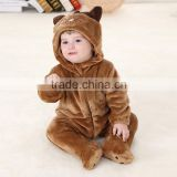 Cute Baby Boy Romper 2015 New Cartoon Baby Clothes Winter Animal baby romper Soft Flannel Climbing Boy Girl Cute Baby Boy Romper