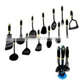 famous kitchen ware in nylon and stainless steel material 13pcs nylon kitchen ware set nylon spatula NL40