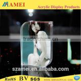 2014 POP selling clear acrylic frameless photo frame/sex desktop acrylic photo picture frame