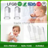 100% Food Grade Silicone Baby Finger Toothbrush / Baby Toothbrush Teether