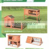 Elegant Style Fir Simple Run Wooden Rabbit Hutch China