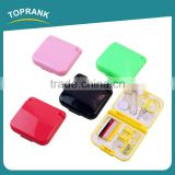 Toprank Wholesale Professional Portable 20 pcs In Set Travel Hotel Sewing Kit Convenient Plastic Mini Travel Sewing Kit Set
