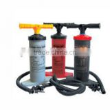 Outdoor bicycle double action hand air pump inflate and deflate with 4 nozzles