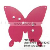 BUTTERFLY SHAPE MEMO BOARD WITH FIVE MAGNETS