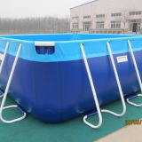 PVC Steel Frame Swimming Pool/Outdoor Easily Assembled Metal Swimming Pool