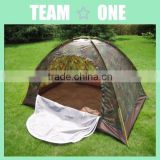 Single Layer Outdoor Camping Camouflage Tent With Mesh Door For 3-4 Person