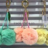 Fashion 6cm Rabbit Fur Key Ring K024-008