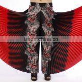 Wholesales high quality tribal printed belly dance divided skirt