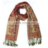 Fashion Polyester&Wool Jacquard Woven Scarf