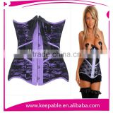 Women's Sexy Steel Boned Corsets Lace Up Overbust Plus Size Corsets Bustier