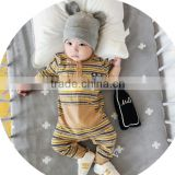 S17710A High quality cotton wholesale baby clothes stripe design baby rompers