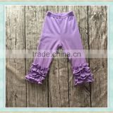 2017 Popular baby girls halloween ruffle pants kids clothes wholesale china garment factory supply baby leggings
