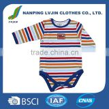 Multicolor 100% Cotton Yarn Dye Interlock Baby Boy Romper/Long Sleeve for Spring and Autumn