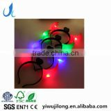 Halloween party colorful led Hair band lashing ox horns hair band