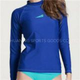 Women Swim Shirts Womens Long Sleeve Rash Guard Top Swimwear Lycra Surf Rushguard Top Swimsuit Free UPF 50+