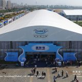 Arcum Tent with Glass Wall for Outdoor Exhibition and Trade Fair