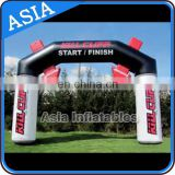 Inflatable Running Arch With Arrow , Top Quality Sealed Inflatable Arch / Finish Line / Start Line With Hanging Banner