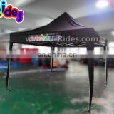 Black Fabric Promotional Folding Tent With Four Holders