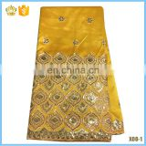 2016 Good Price African George Lace Fabric New Arrival With Sequins for dress F16022516