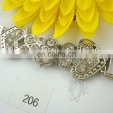 wolesale metal slider buckle with high quality rhinestone