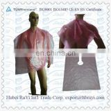 Nonwoven Disposable Plastic Barber Cape in Hair Salon