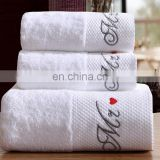 Wholesale elegant embroidered luxury design hotel towels bath set