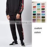 men embroidered roma roses sweat pants green red striped jogger pants wholesale